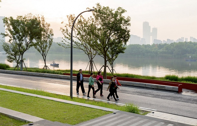Riverside Commercial Eco Park, China by Collective Landscape Design
