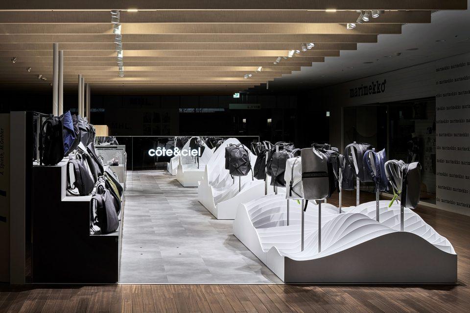 si设计|法国背包品牌cote&ciel名古屋店面设计