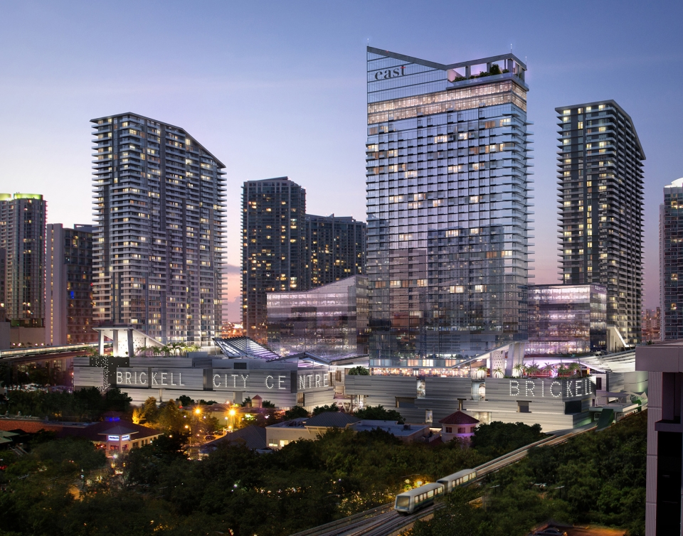 Brickell中央广场景观设计——在拥挤的城市上空展示多样的生态系统