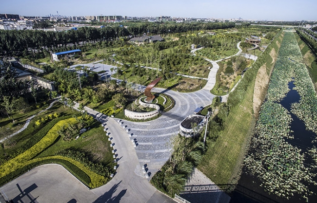 Beijing Daxing Ecological Civilization Educaiton Park, China by COBBLESTONE