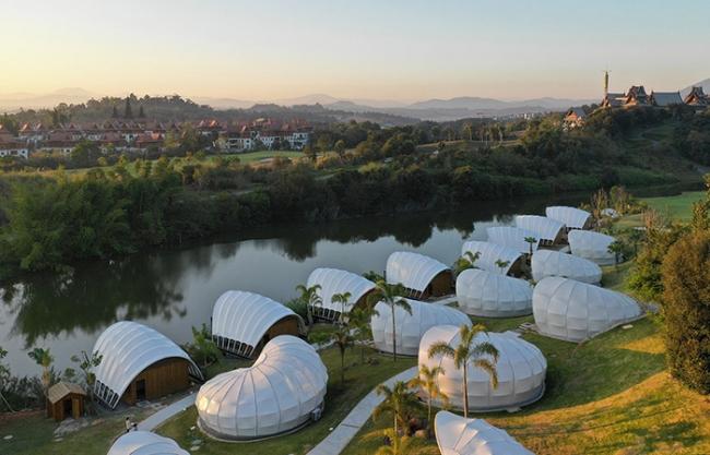 The Visible Ze Habitat Tent Art Hotel, Yunnan, China by JSTUDIO
