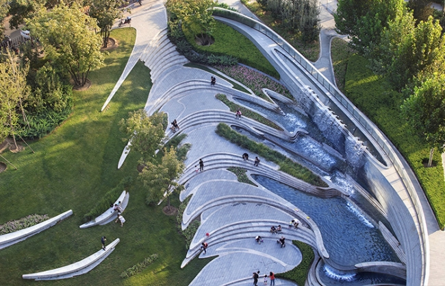 Landscape Design of Wangjing SOHO, China by ECOLAND