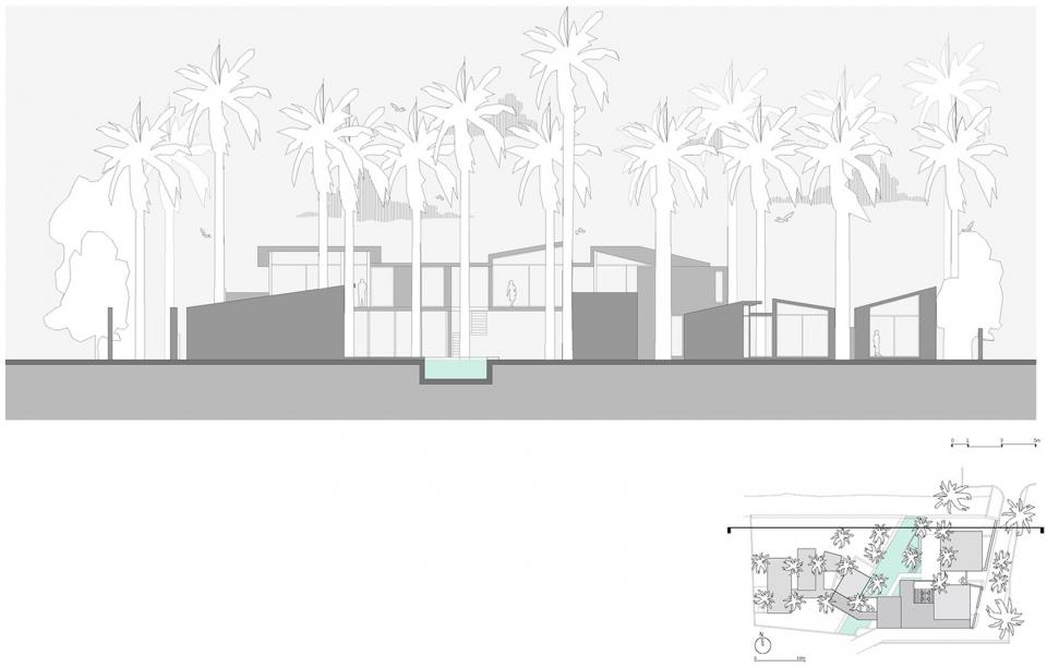棕榈别墅,印度  Abraham John Architects 隐在椰子树林之中的红土石别墅