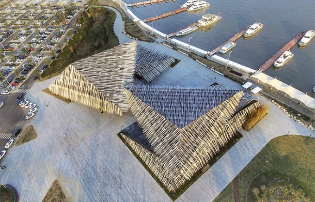 Xiangcheng Yangcheng Lake Tourist Transportation Center, China by Kengo Kuma and Associates