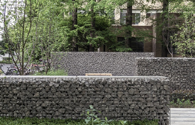 Four Squares: Landscape Micro-Update of Siping Road Campus of Tongji University, China by TJAD
