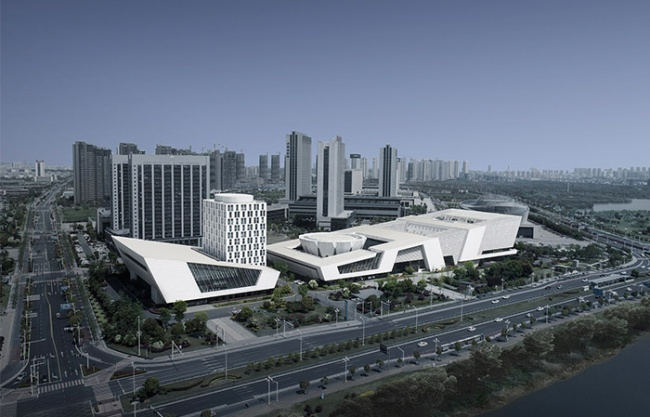 Huaian Urban Plan Museum, Library, Culture Museum and Art museum, China by TJAD