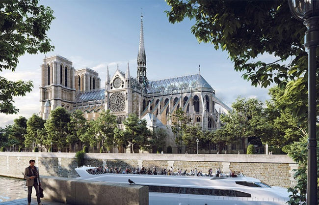 New spire for Notre-Dame by Miysis