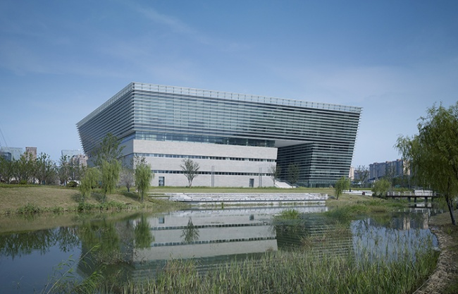 Suzhou No.2 Library, China by gmp