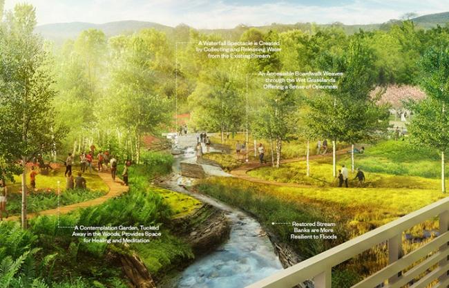 2019 ASLA 分析與規劃類榮譽獎:麥金太爾植物園,弗吉尼亞 / Mikyoung Kim Design