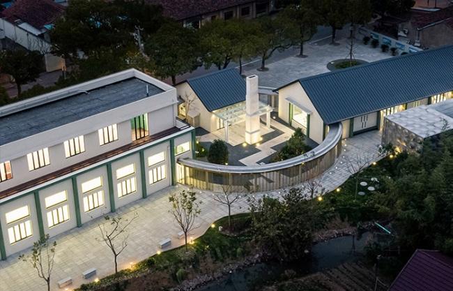 上海崇明新河镇新民社区文化中心 / 一岸建筑设计