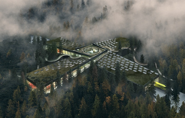 """The Plus"": 森林深处的工厂,挪威 / BIG"