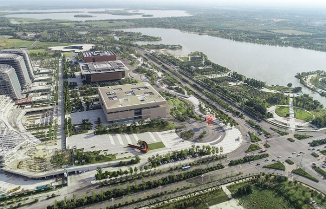 Landscape of Jining Cultural Center Phase I, China by LDG Lansikaipu