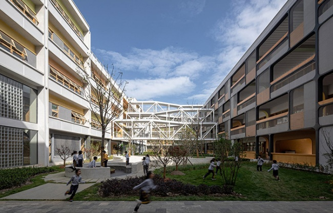 Huazhan Campus of Shanghai Gaoan Road No. 1 Primary School, Shanghai, China by Scenic Architecture Office