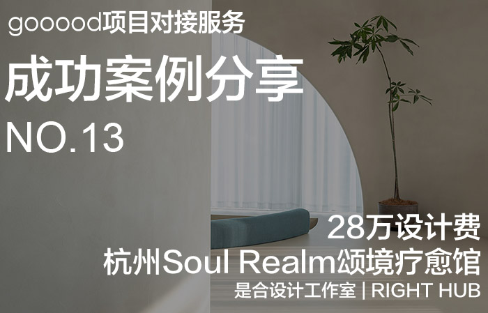 项目对接服务成功案例分享第十三期:28万设计费,Soul Realm颂境疗愈馆|Get-Project Case Sharing No.13: ¥280,000 Design Fee, Soul Realm SPA House