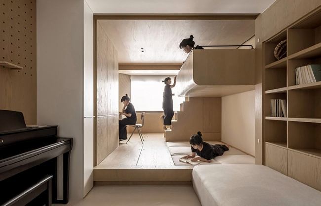 格 · 格物致知 – 50坪公寓室内改造,上海 / 木卡工作室