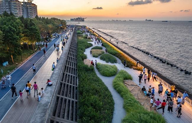 宝山滨江(一期)岸线的生态化与市民化转型,上海 / 大观景观设计